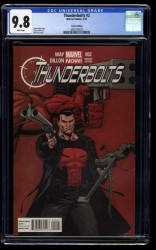 Thunderbolts #2 CGC NM/M 9.8 White Pages 1:50 Punisher Variant