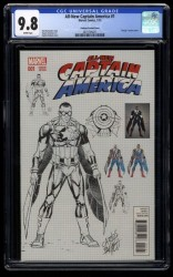 All-New Captain America #1 CGC NM/M 9.8 White Pages Pacheco Design Variant