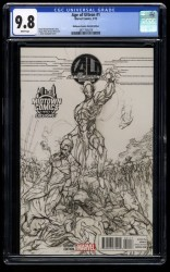 Age of Ultron #1 CGC NM/M 9.8 Midtown Comics Exclusive Sketch Variant