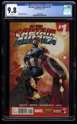 All-New Captain America #1 CGC NM/M 9.8 White Pages