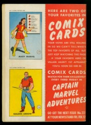 Back Cover Captain Marvel Adventures 21
